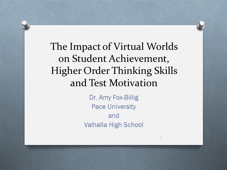 Dr. Amy Fox-Billig Pace University and Valhalla High School