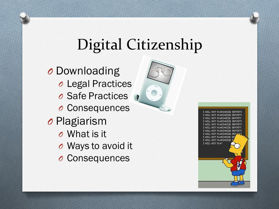 Digital Citizenship Downloading Plagiarism Legal Practices