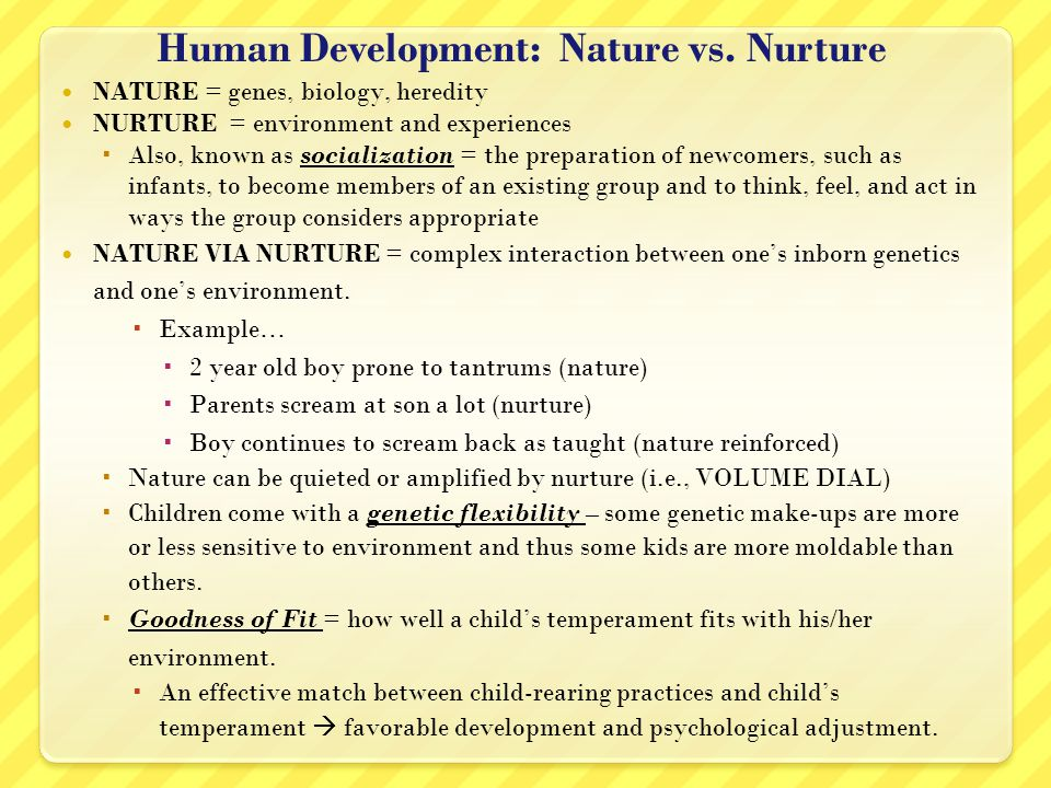 nature against nurture