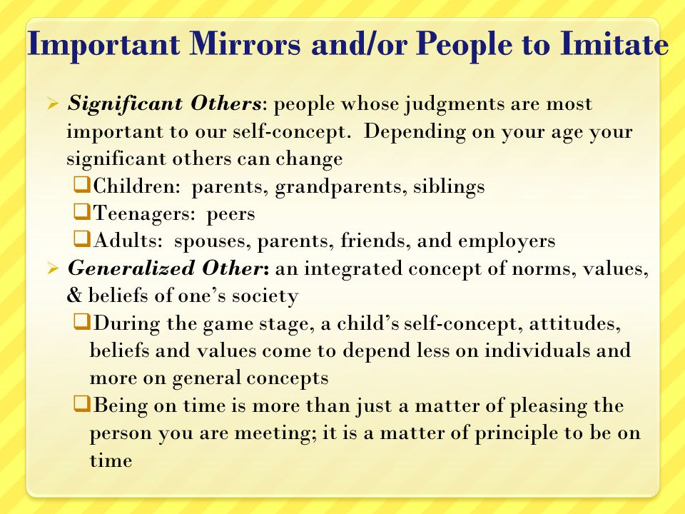 Important Mirrors and/or People to Imitate