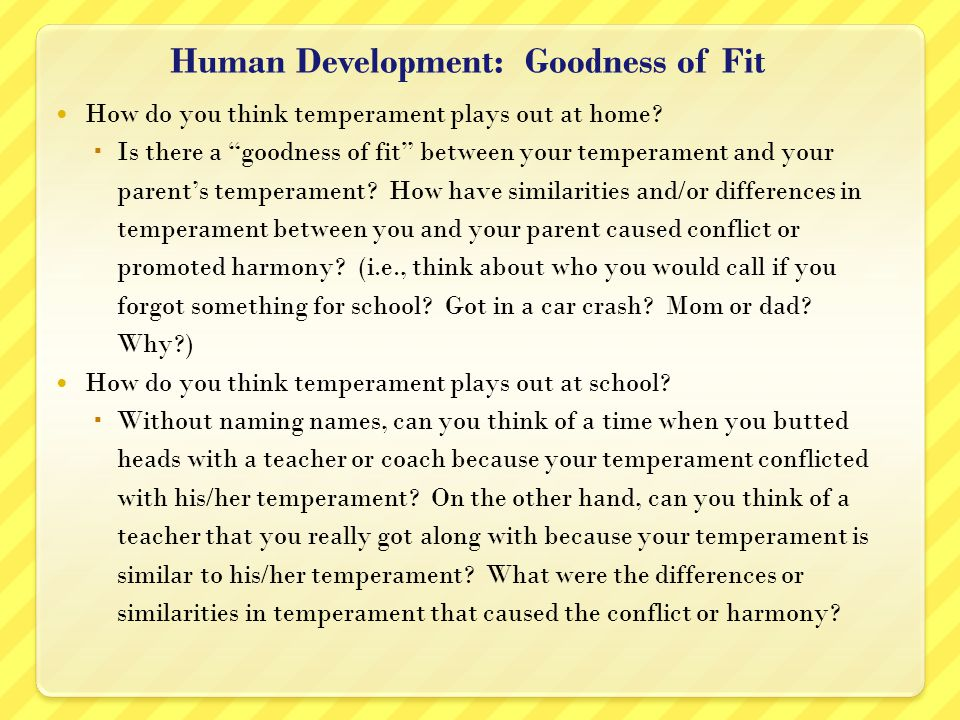 Human Development: Goodness of Fit