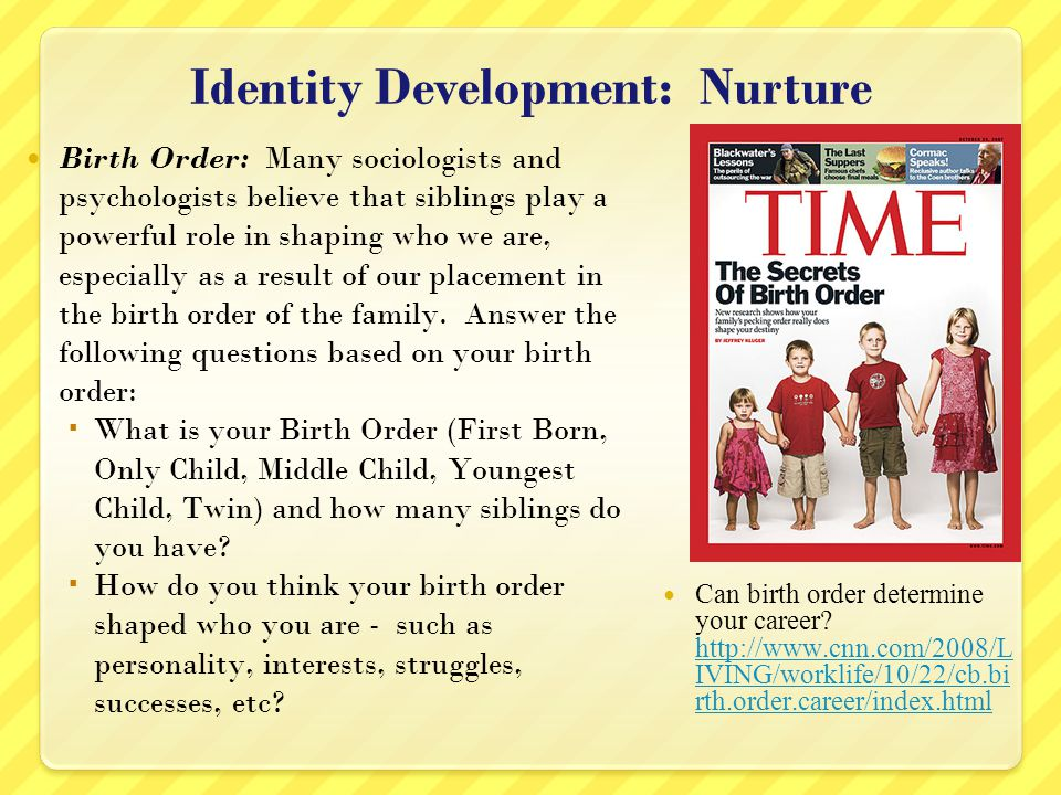 Identity Development: Nurture