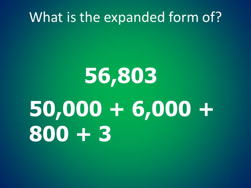 What is the expanded form of