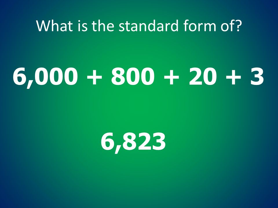 What is the standard form of