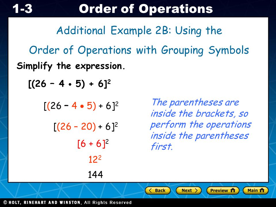 Additional Example 2B: Using the