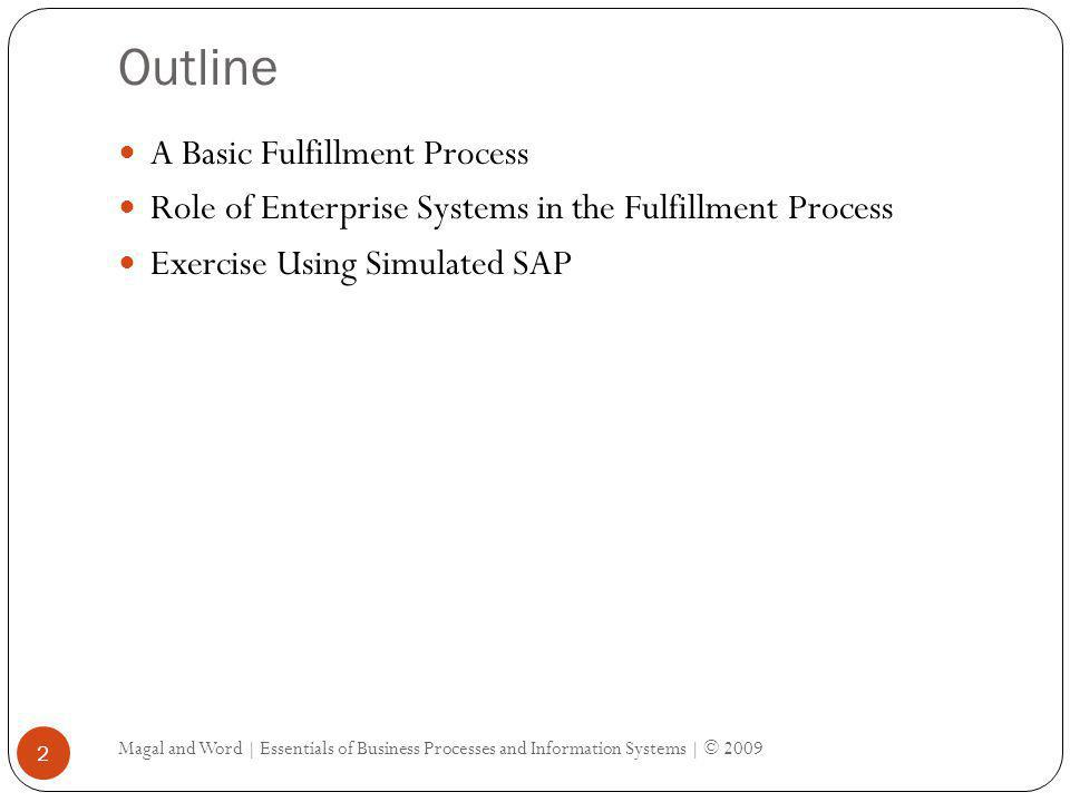 Outline A Basic Fulfillment Process