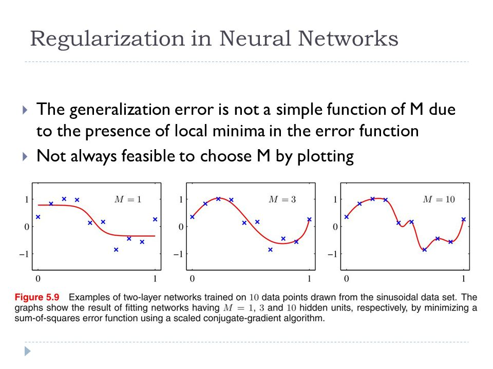 Regularization in Neural Networks