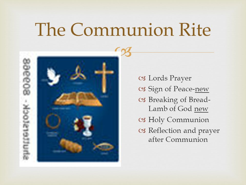 The Communion Rite Lords Prayer Sign of Peace-new