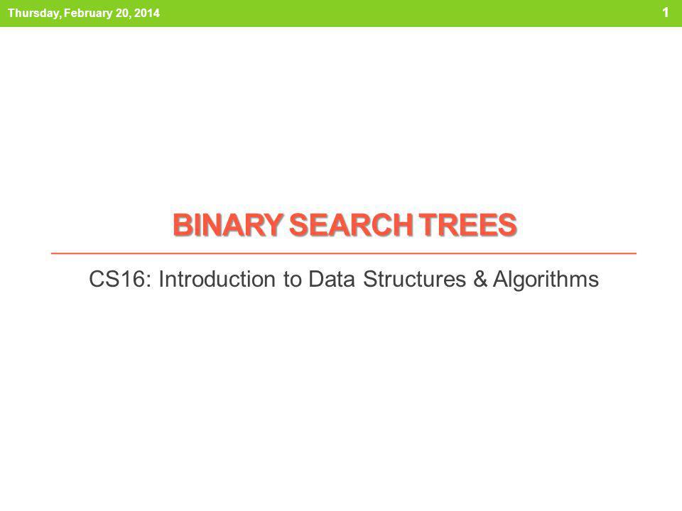 CS16: Introduction to Data Structures & Algorithms