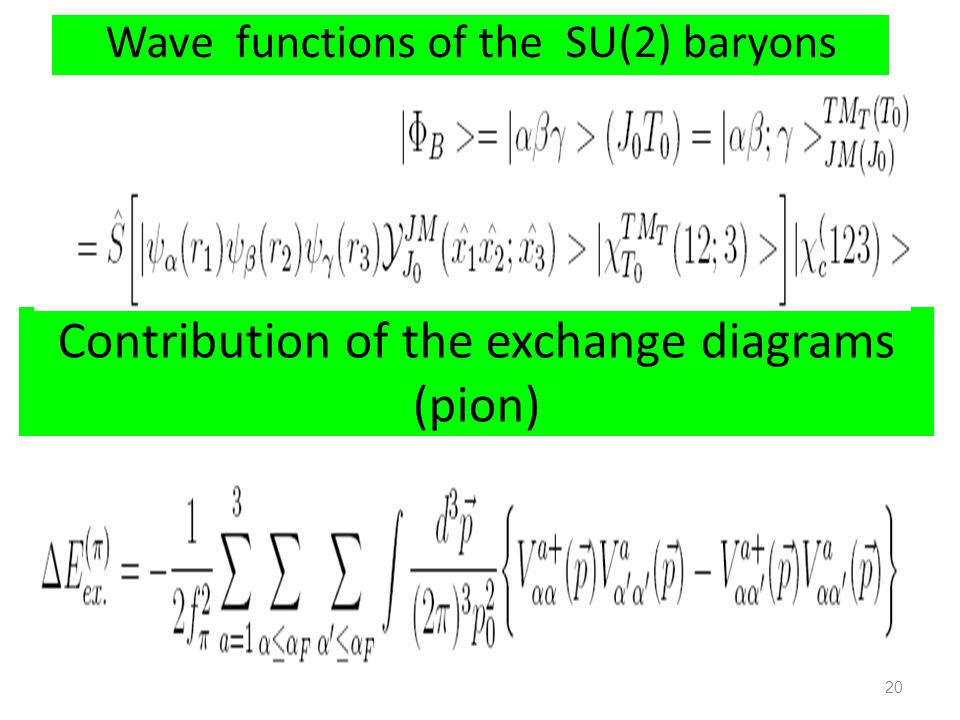 Contribution of the exchange diagrams (pion)