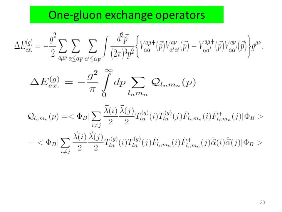 One-gluon exchange operators