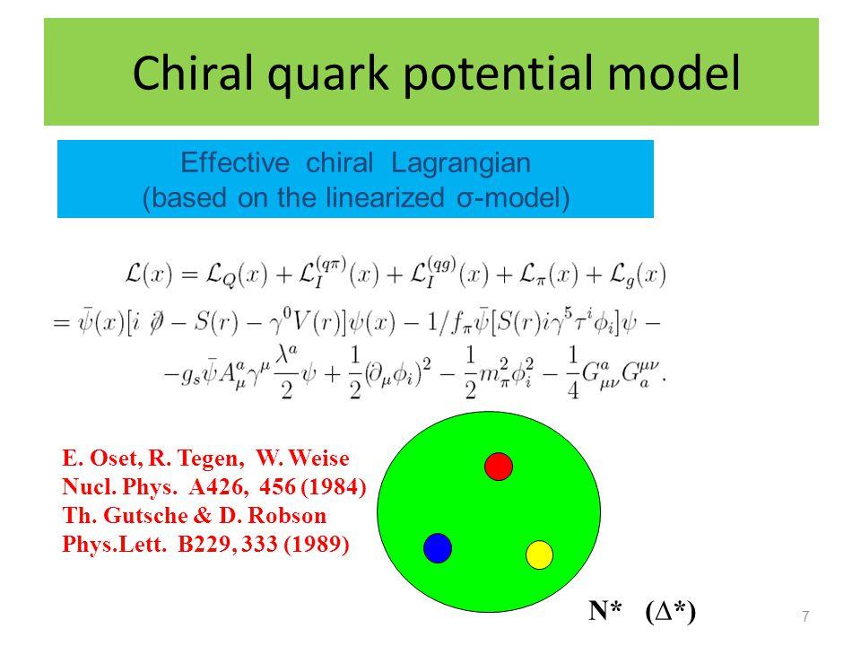 Chiral quark potential model