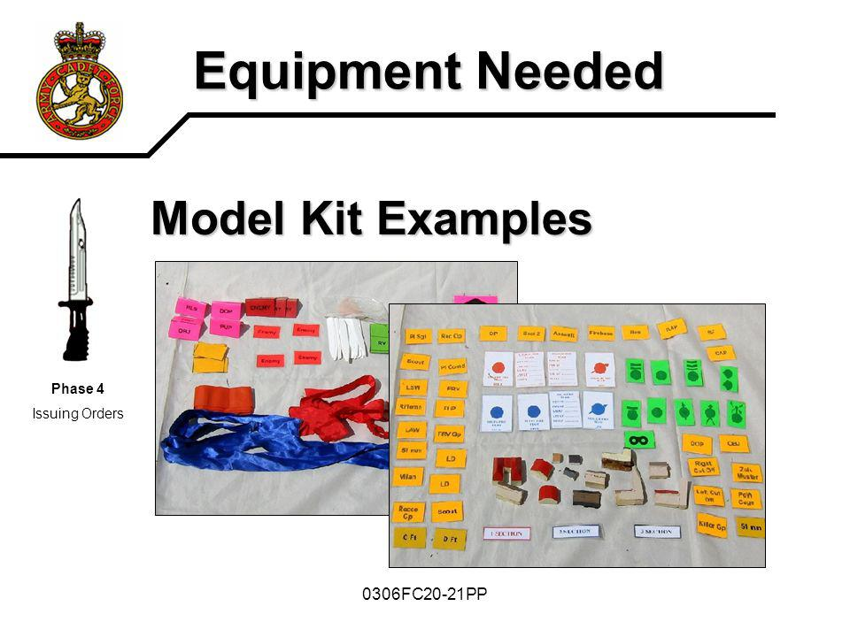 Equipment Needed Model Kit Examples 0306FC20-21PP Phase 4