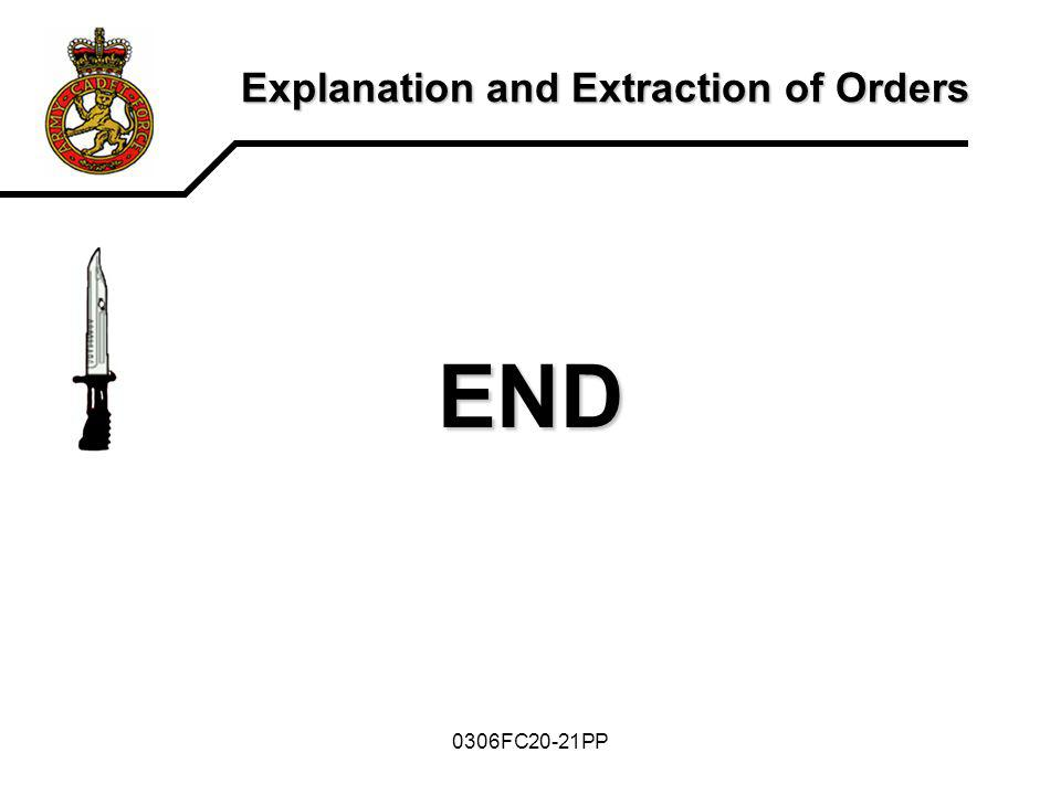 Explanation and Extraction of Orders