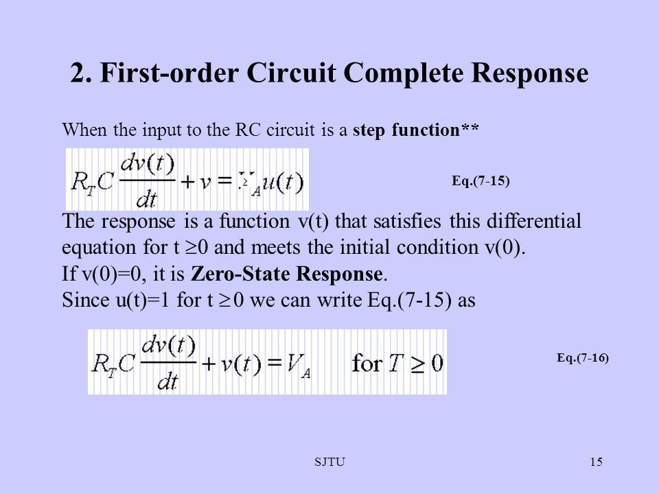 2. First-order Circuit Complete Response