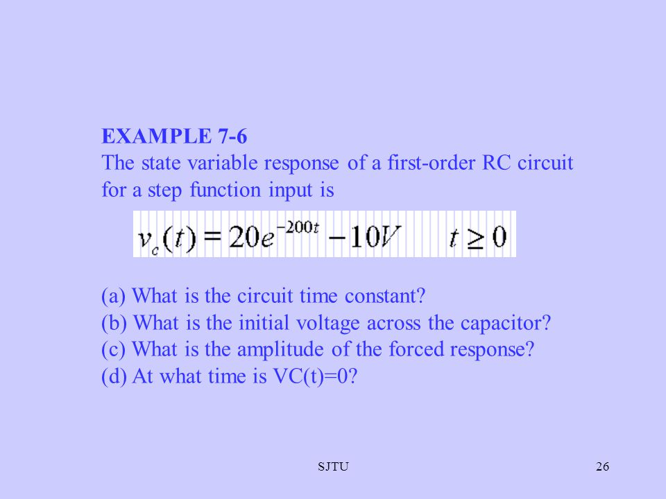 (a) What is the circuit time constant