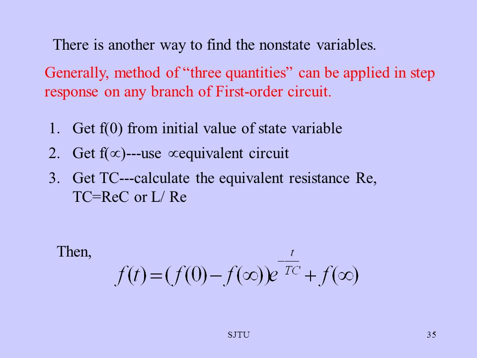 There is another way to find the nonstate variables.