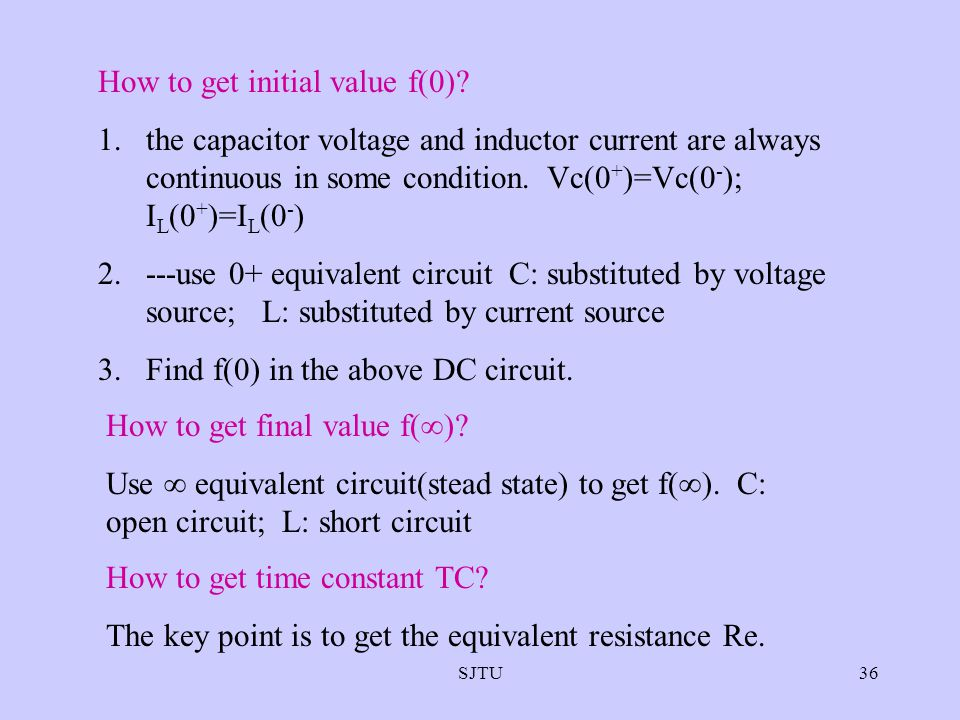 How to get initial value f(0)