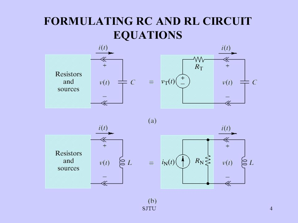 FORMULATING RC AND RL CIRCUIT EQUATIONS