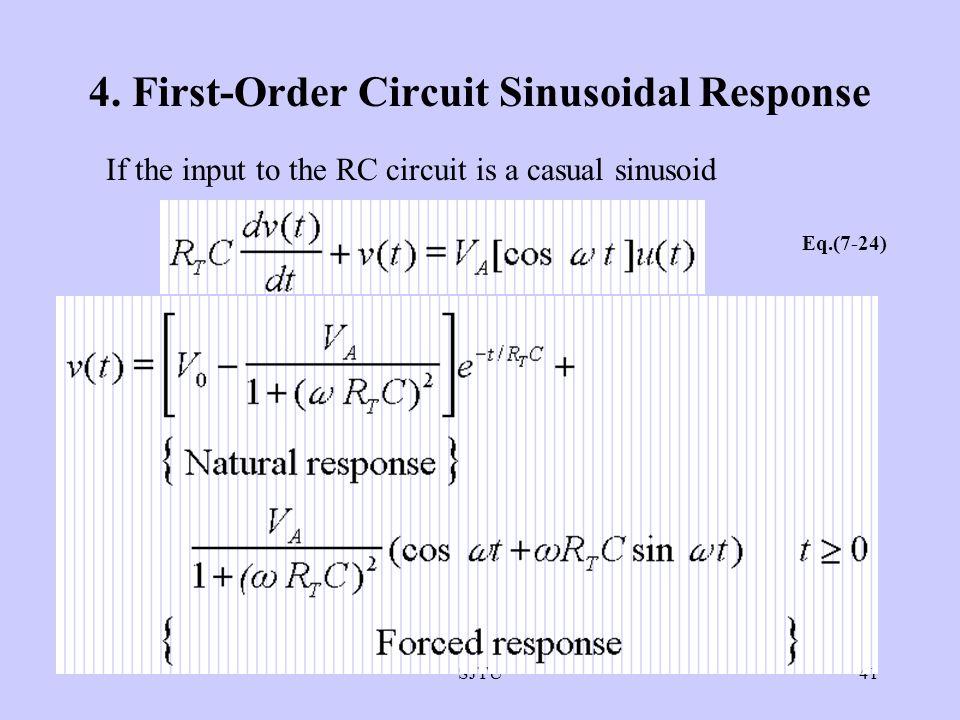 4. First-Order Circuit Sinusoidal Response
