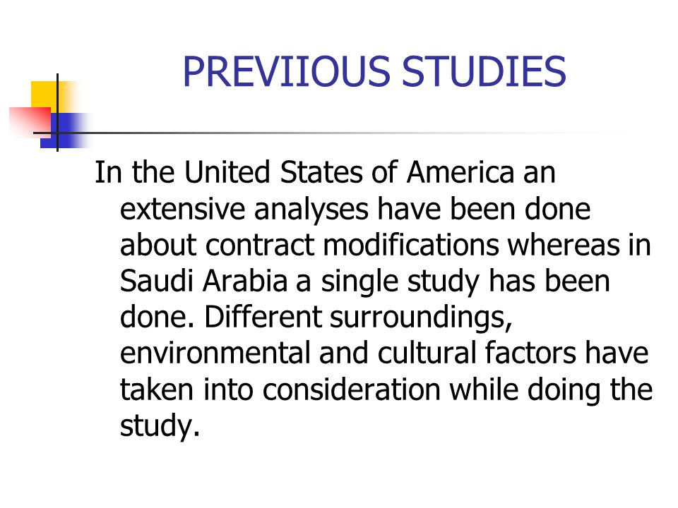 PREVIIOUS STUDIES