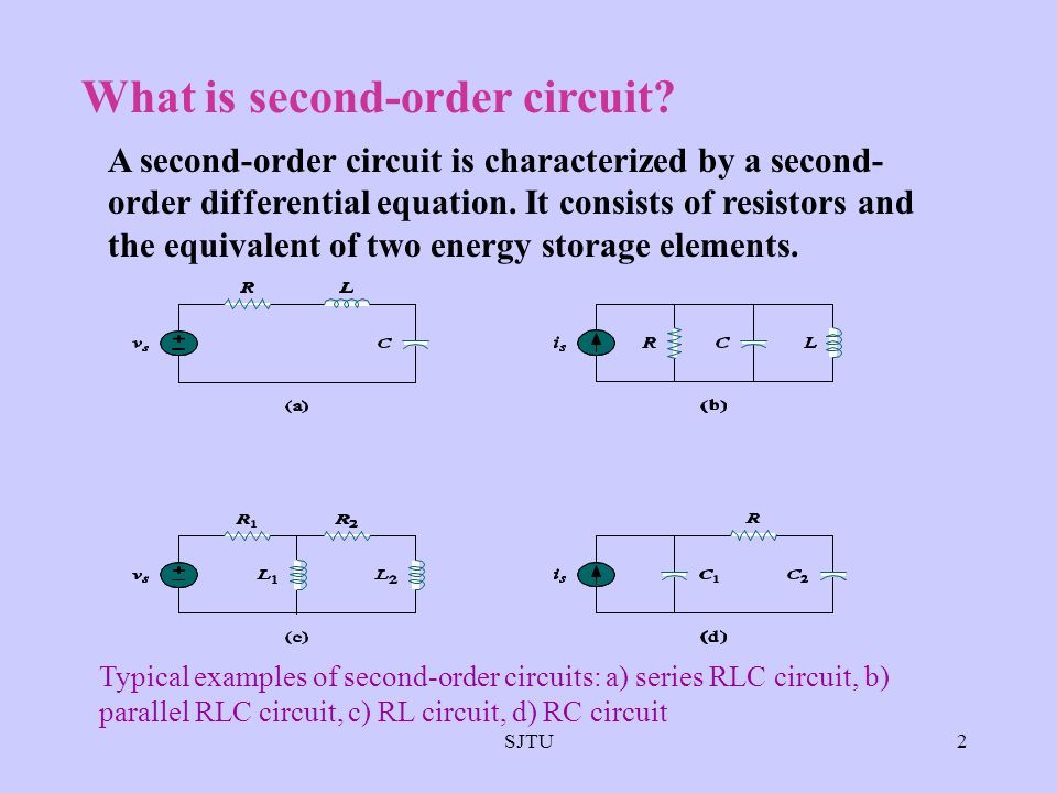 What is second-order circuit