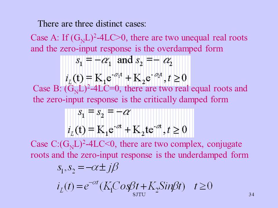 There are three distinct cases: