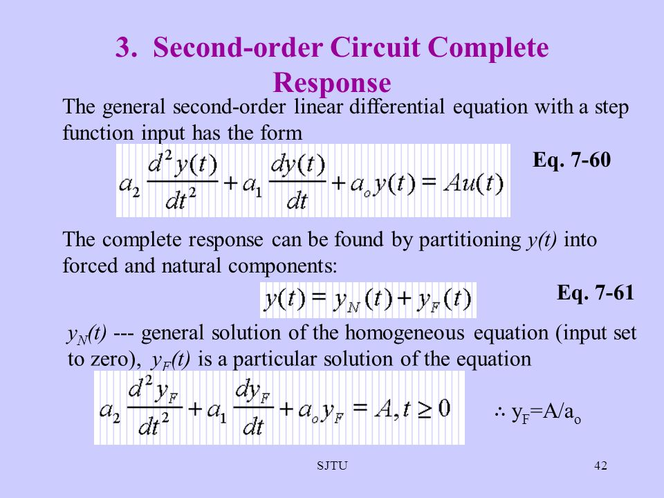 3. Second-order Circuit Complete Response
