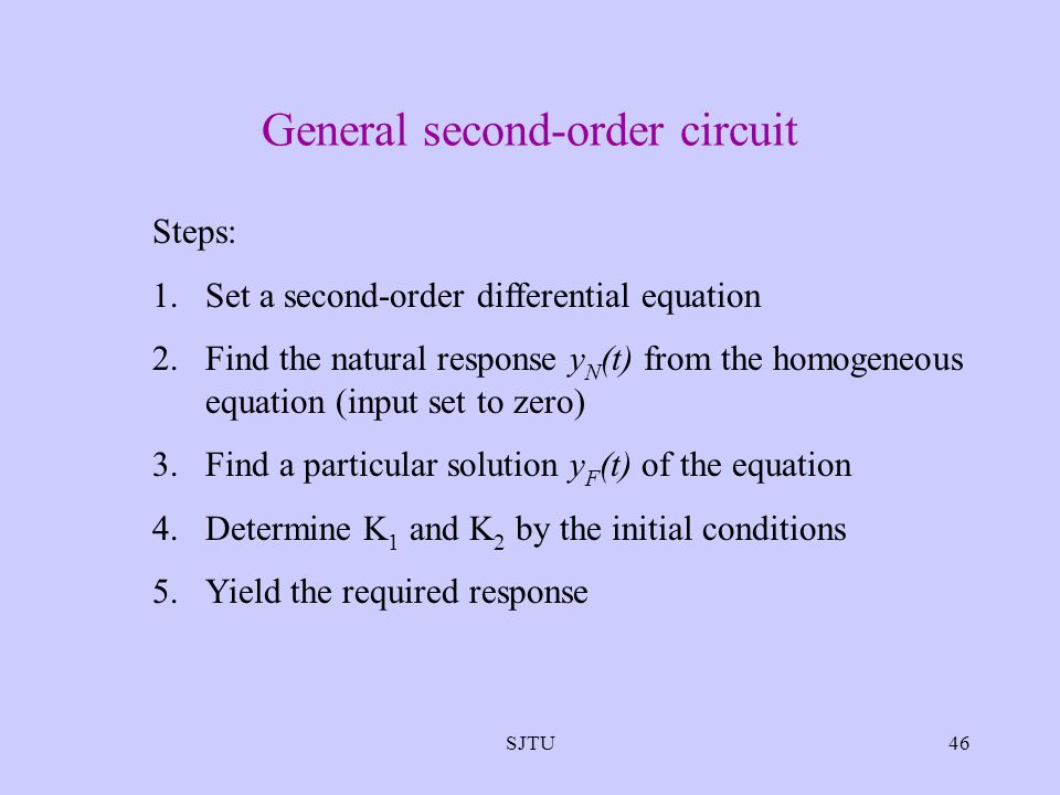General second-order circuit