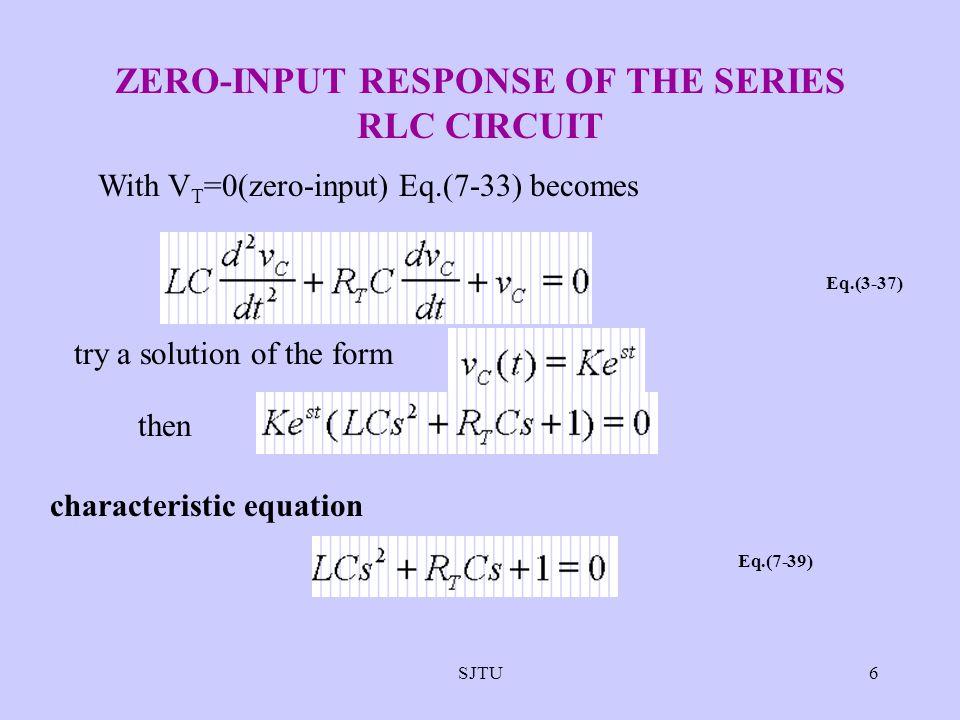 ZERO-INPUT RESPONSE OF THE SERIES RLC CIRCUIT
