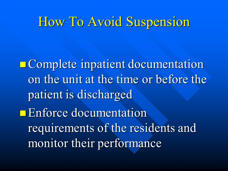 How To Avoid Suspension