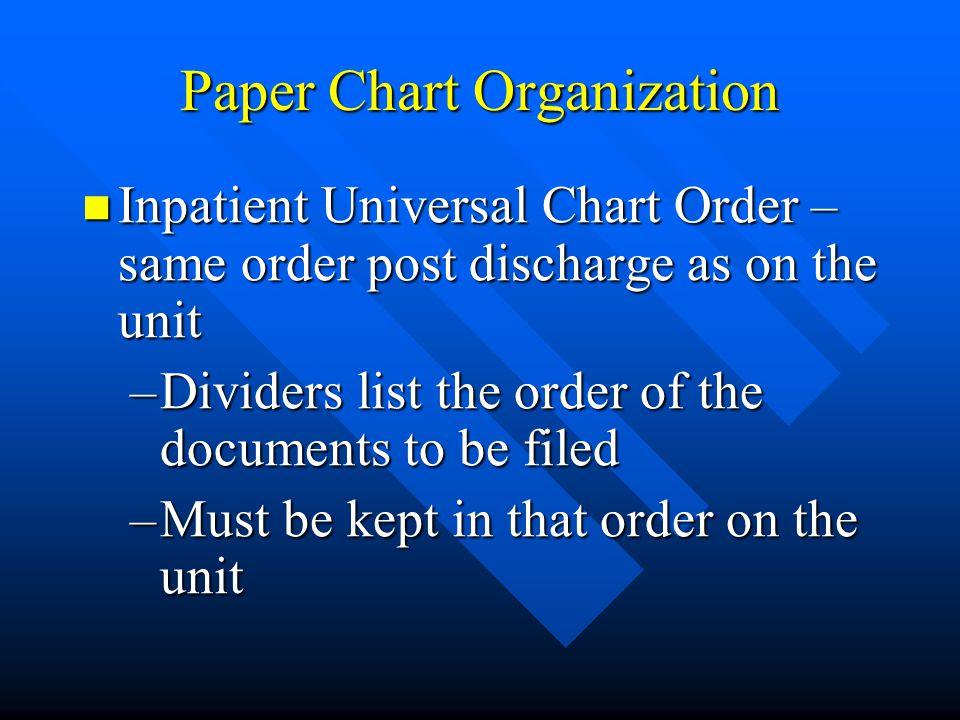 Paper Chart Organization