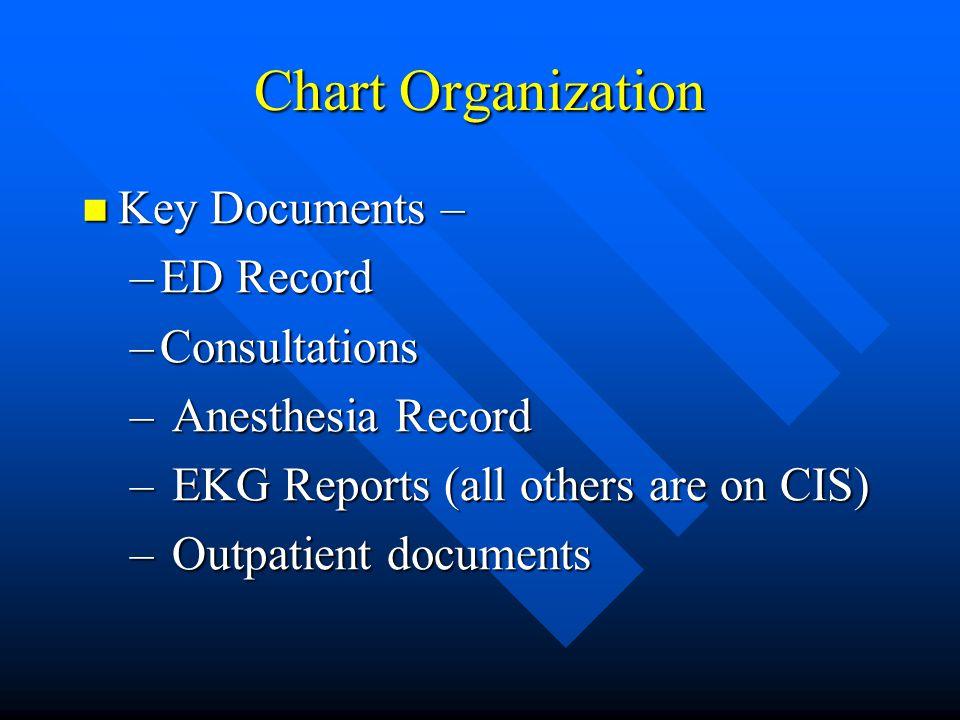 Chart Organization Key Documents – ED Record Consultations