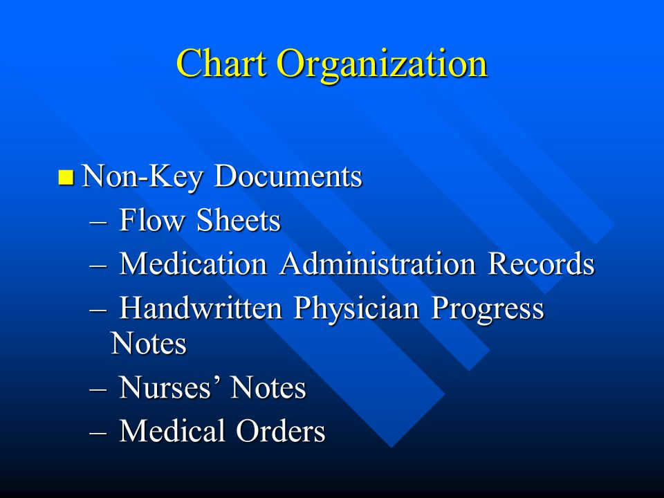 Chart Organization Non-Key Documents Flow Sheets
