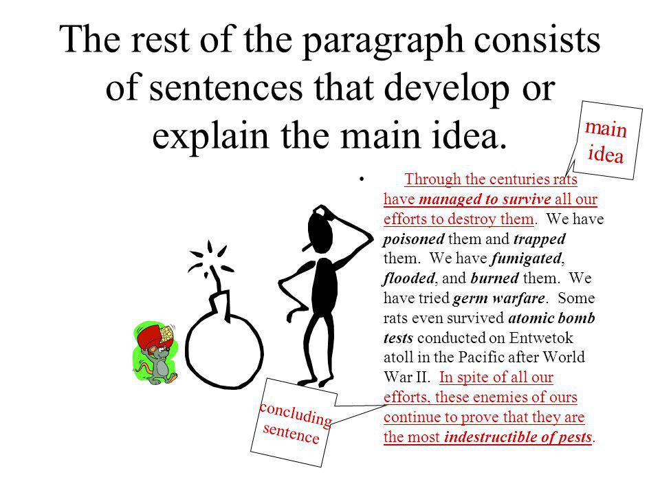 The rest of the paragraph consists of sentences that develop or explain the main idea.