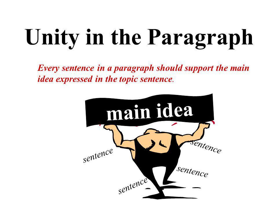 Unity in the Paragraph main idea