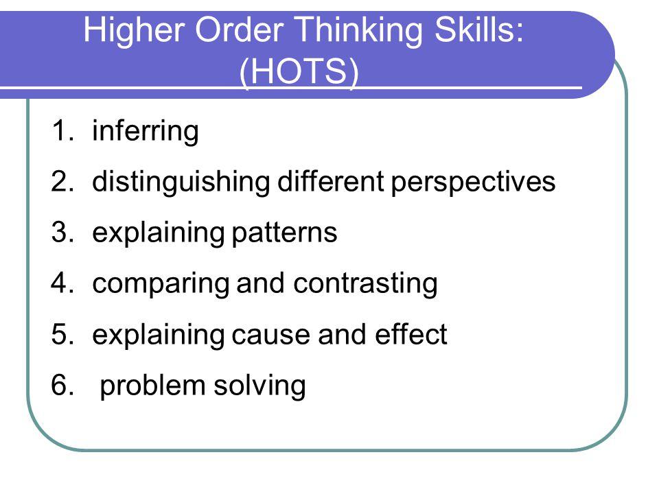 Higher Order Thinking Skills: (HOTS)