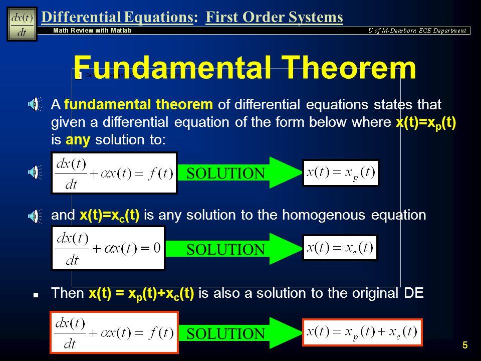Fundamental Theorem SOLUTION SOLUTION SOLUTION