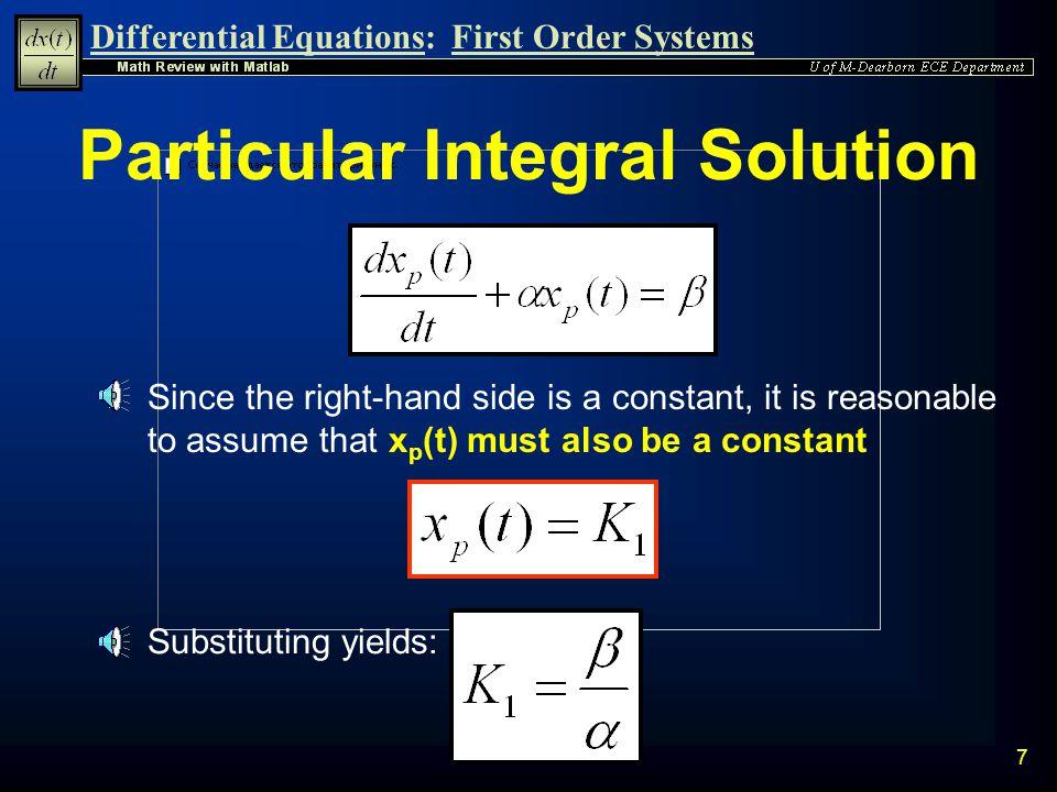 Particular Integral Solution