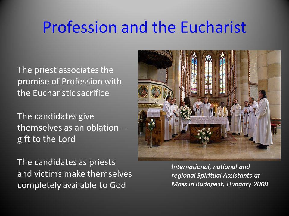 Profession and the Eucharist