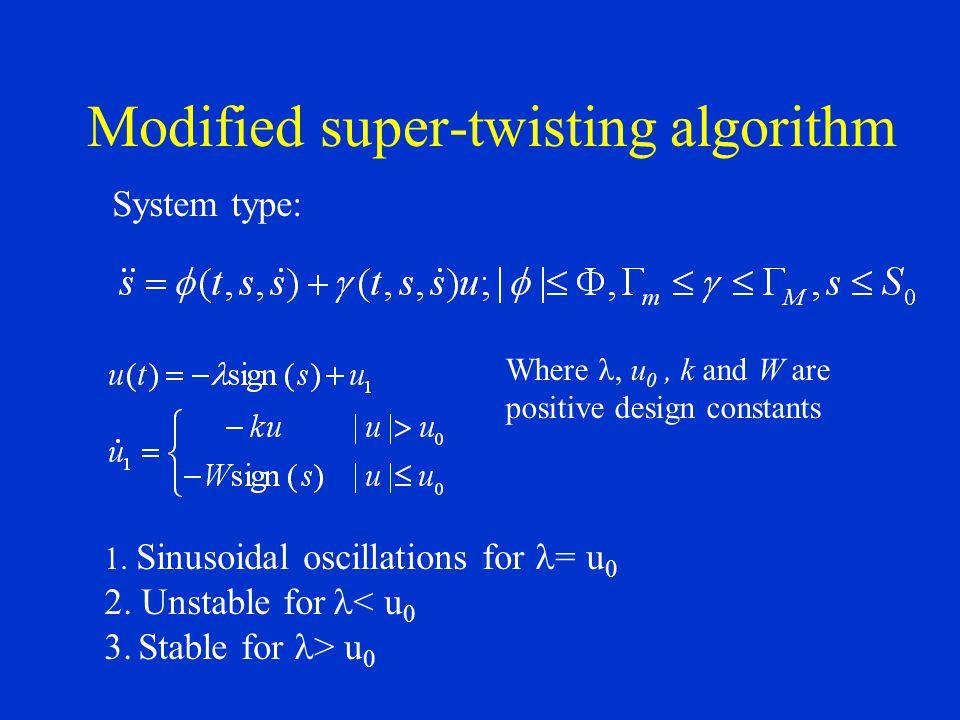 Modified super-twisting algorithm