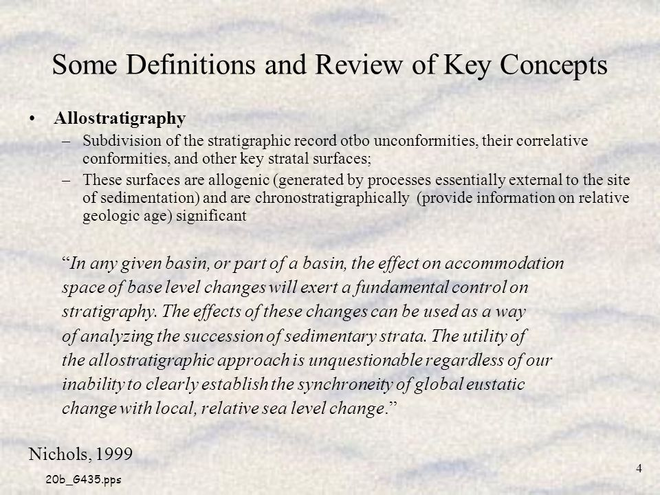 Some Definitions and Review of Key Concepts