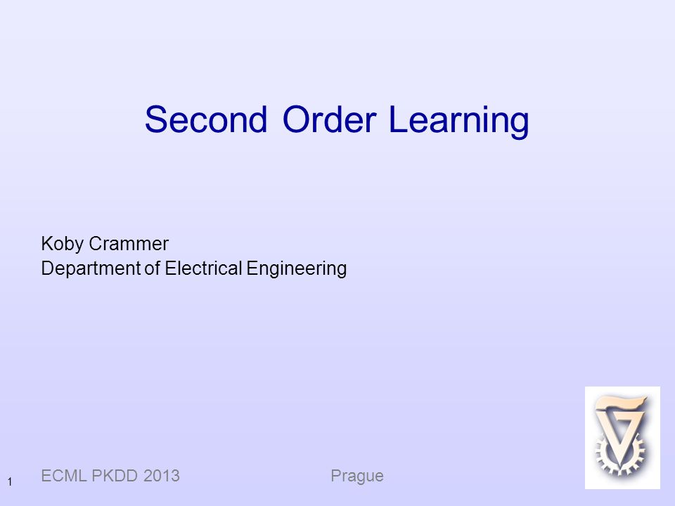 Koby Crammer Department of Electrical Engineering