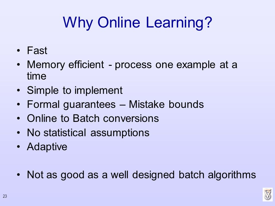 Why Online Learning Fast