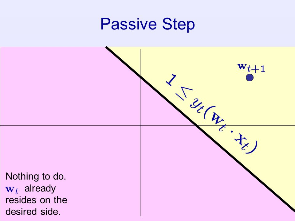 Passive Step Nothing to do. already resides on the desired side.