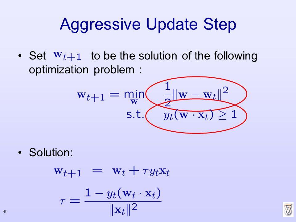 Aggressive Update Step