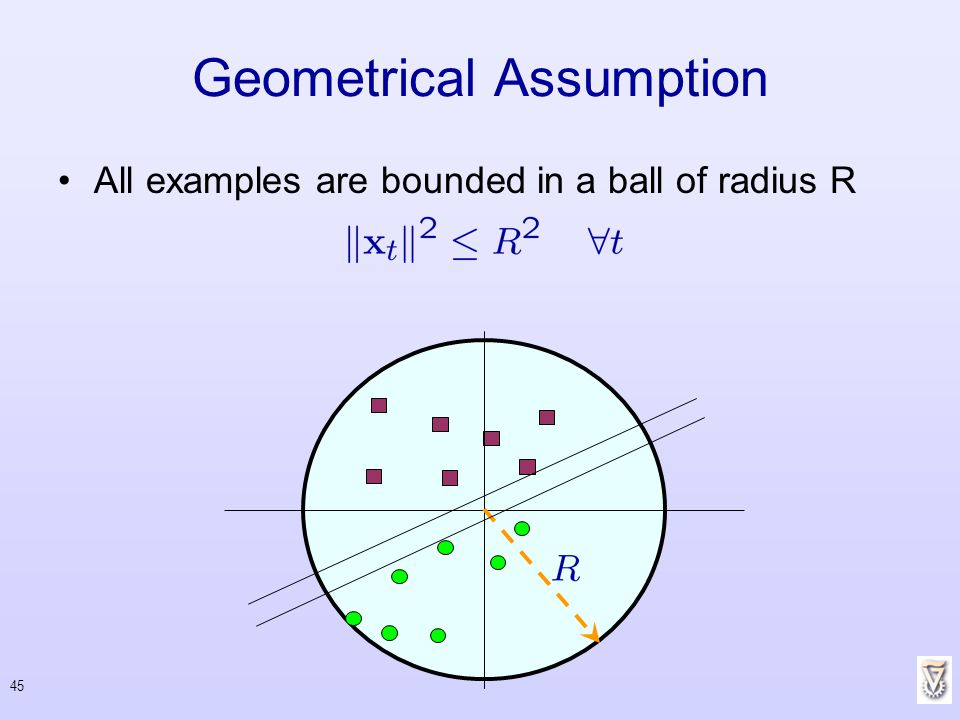 Geometrical Assumption
