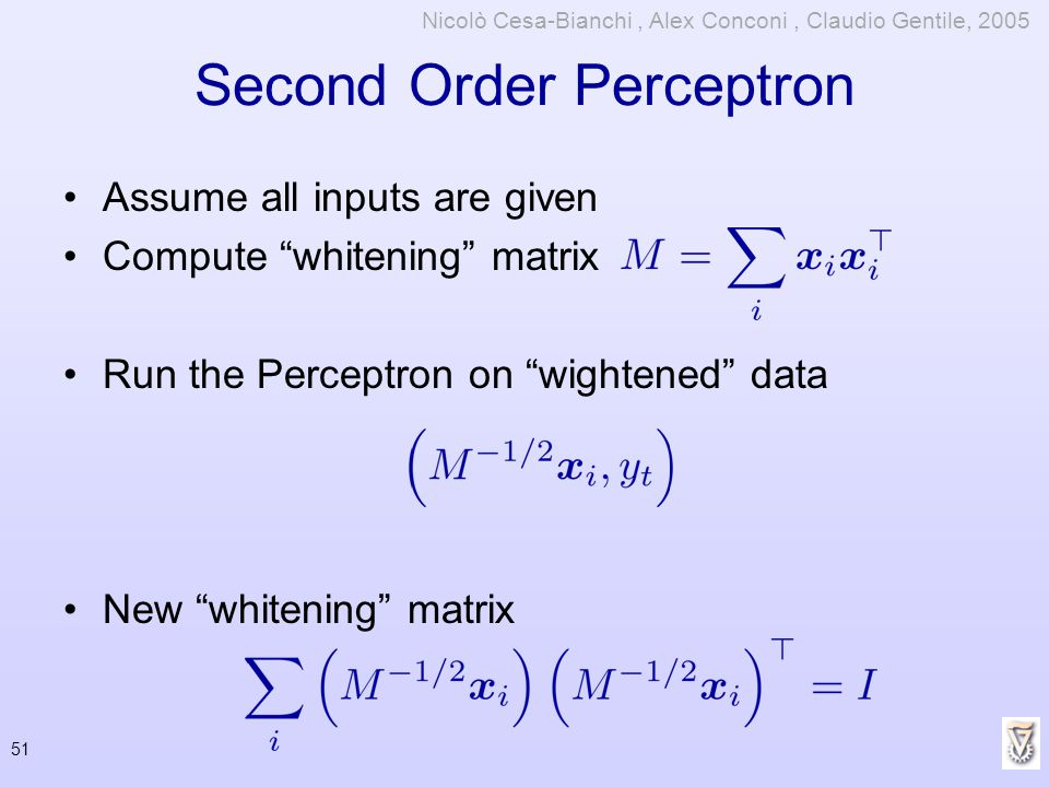 Second Order Perceptron