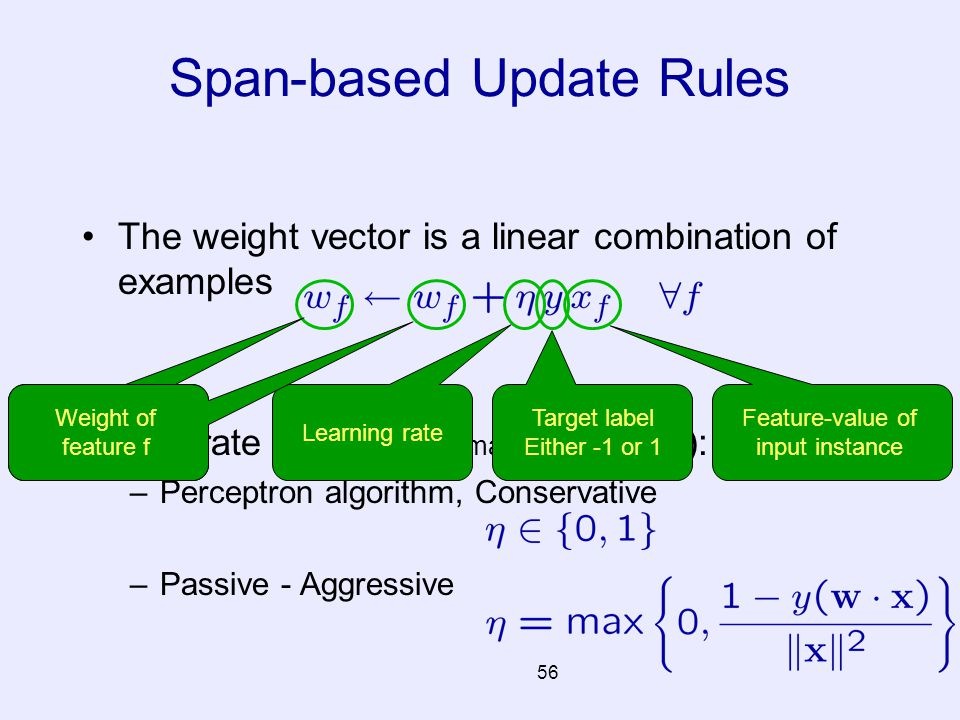 Span-based Update Rules