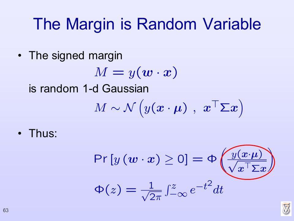 The Margin is Random Variable